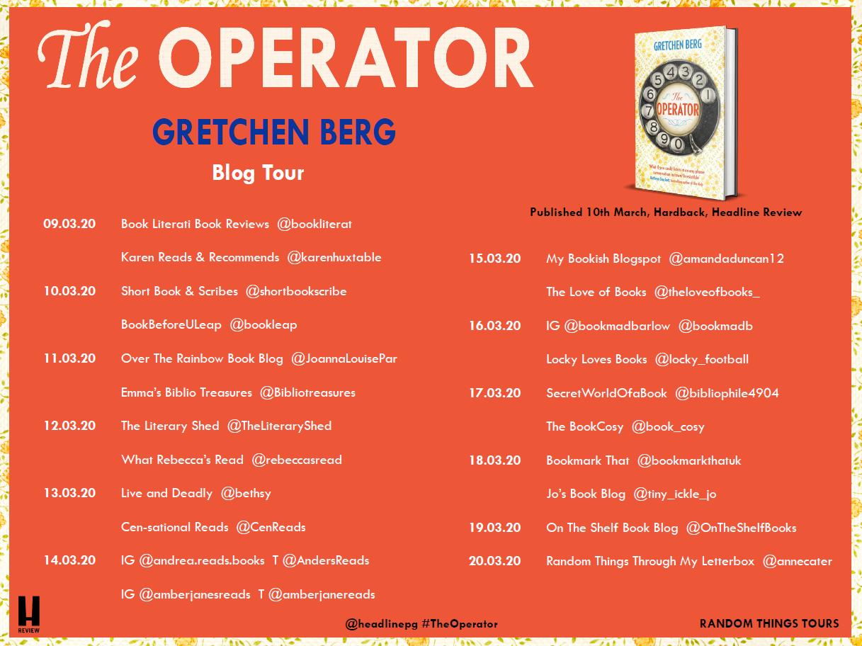 The Operator blog tour card