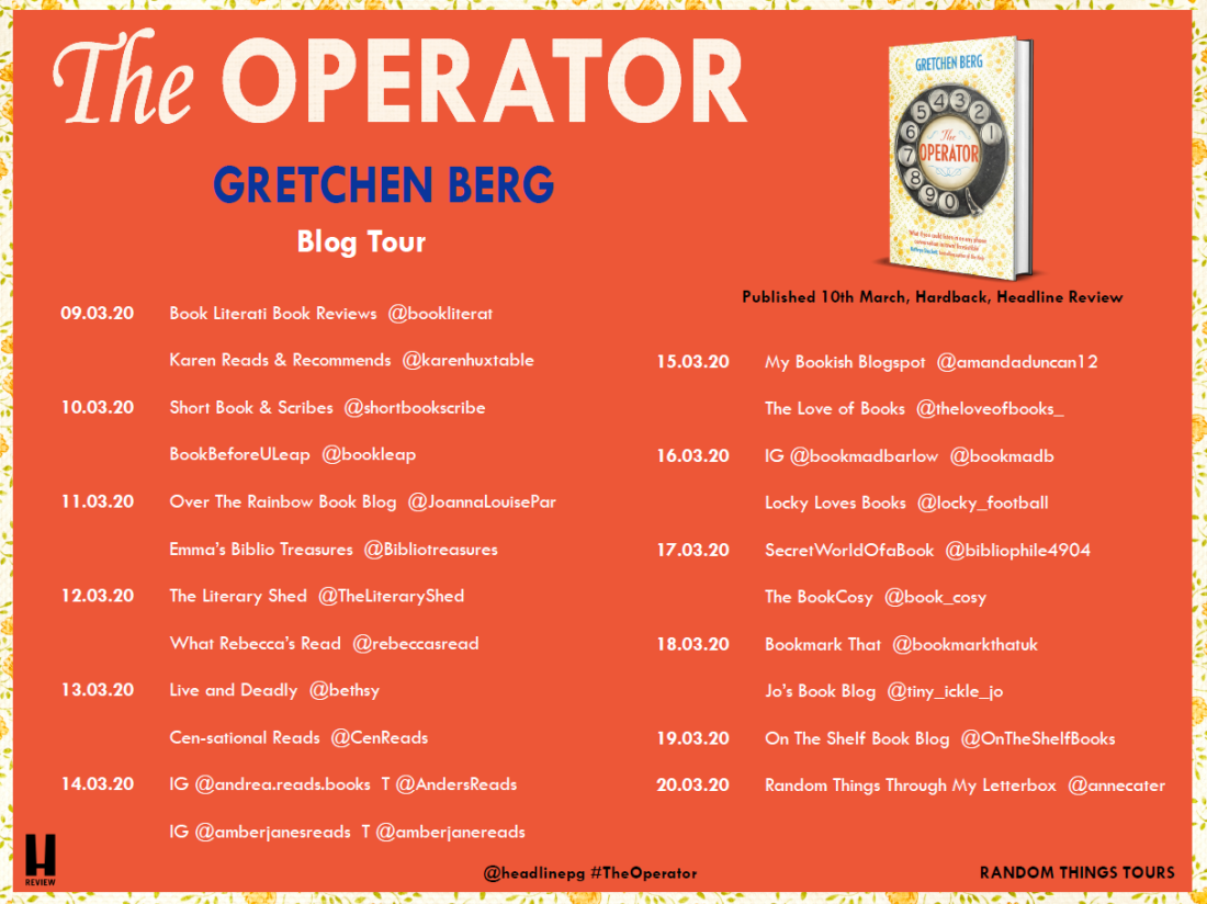 The Operator blog tour card
