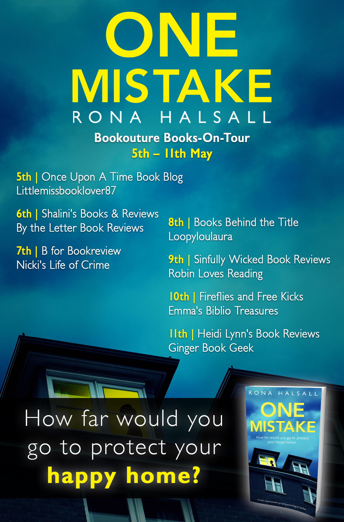 One Mistake - Blog Tour Poster